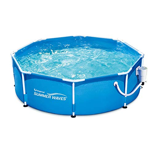 "Best Summer Wave Pool Reviews - Summer Waves 8' x 30"" Metal Frame Above Ground Pool Set"