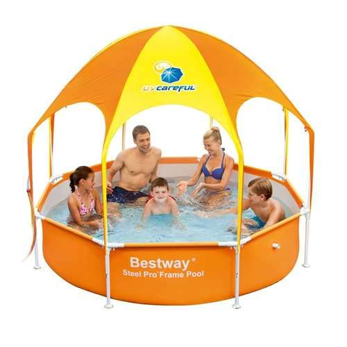 The 10 Bestway Pool Review of 2019 - H2OGO Splash-in-Shade Play Pool Orange