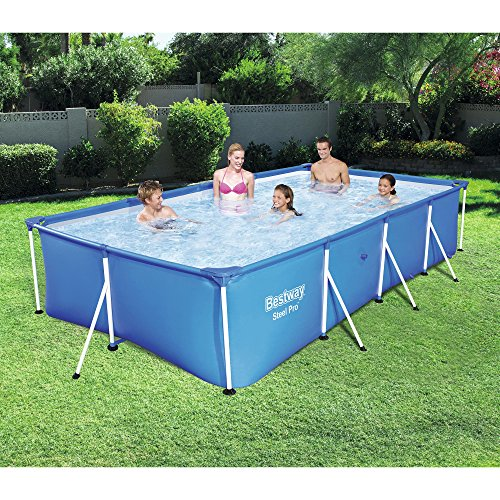 The 10 Bestway Pool Review of 2019 - Bestway Steel Pro Rectangular Frame Above Ground Swimming Pool