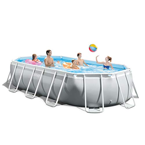 Best Intex Pool Reviews and Comparison - Intex 16.5ft x 9ft x 48in Oval Prism Frame Pool Set